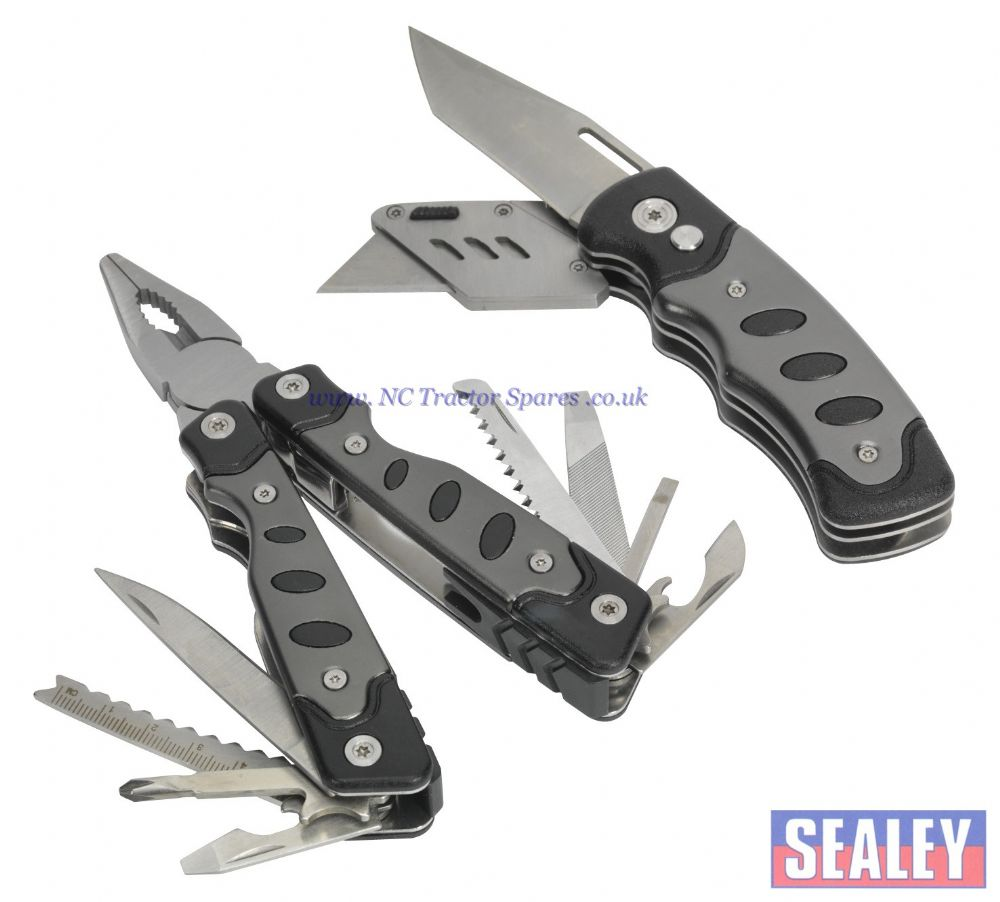 Multi-Tool & Twin Blade Knife Set 2pc 15 Function
